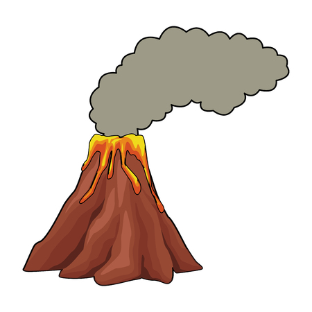 Volcano with lava vector illustration graphic design Illustration