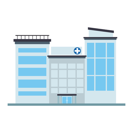 Hospital building isolated vector illustration graphic design