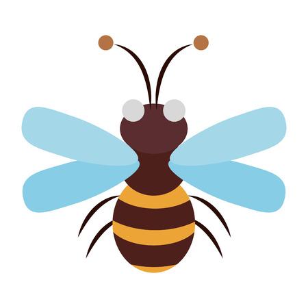 Cute bee cartoon vector illustration graphic design
