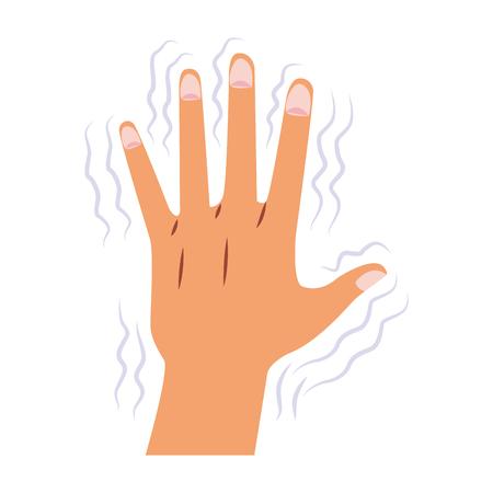 Hand shaking for Alzheimer vector illustration graphic design Illustration