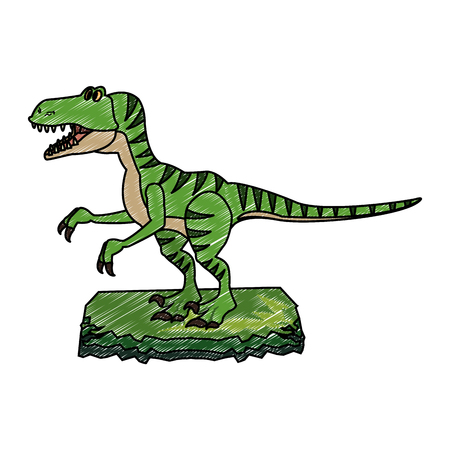 T rex cartoon vector illustration graphic design. Vettoriali