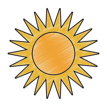 Sun cartoon isolated vector illustration graphic design