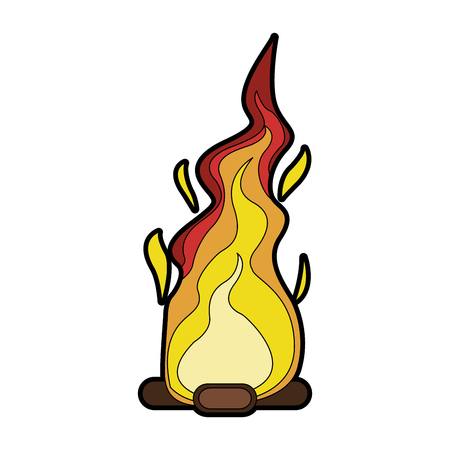 Bonfire cartoon isolated vector illustration graphic design.