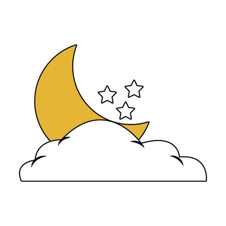 Moon and stars vector illustration graphic design Illustration