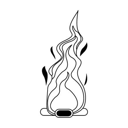 Bonfire cartoon isolated vector illustration graphic design