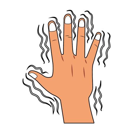 Hand shaking vector illustration graphic design
