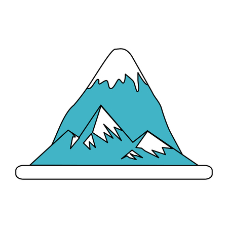 Mountain with snow vector illustration graphic design Illustration