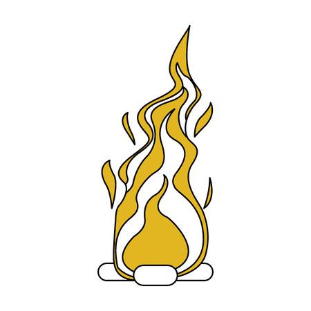 Bonfire cartoon isolated vector illustration graphic design Stock Vector - 98538860