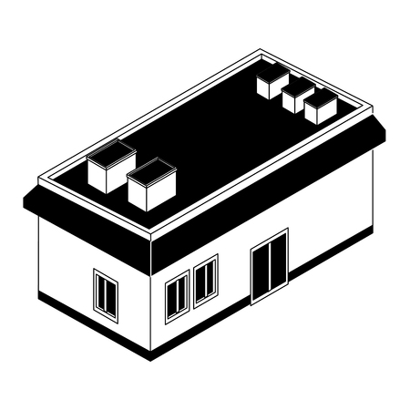 Isometric house real estate vector illustration graphic design