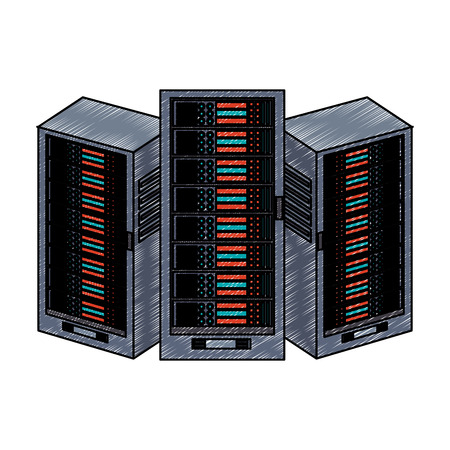 Servers database technology vector illustration graphic design