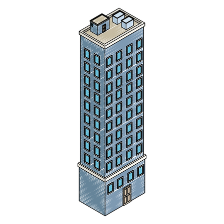 Isometric office building vector illustration graphic design 矢量图像
