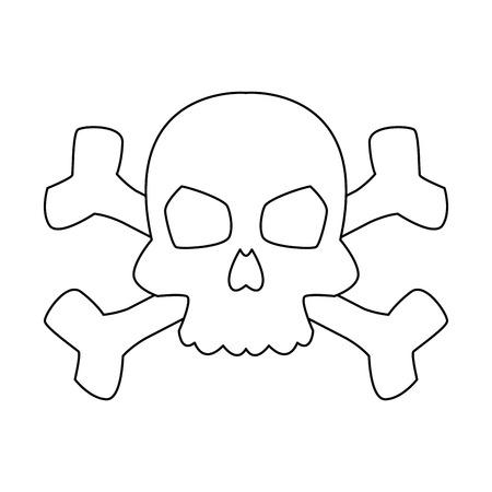 Skull with bones symbol vector illustration graphic design