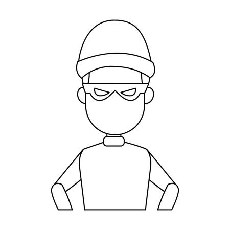 Thief man cartoon vector illustration graphic design Illustration