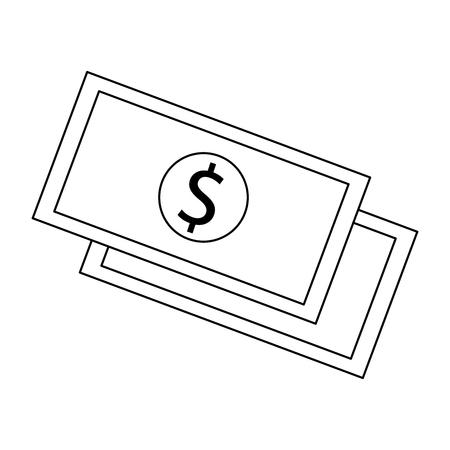 Money and cash symbol vector illustration graphic design Illustration