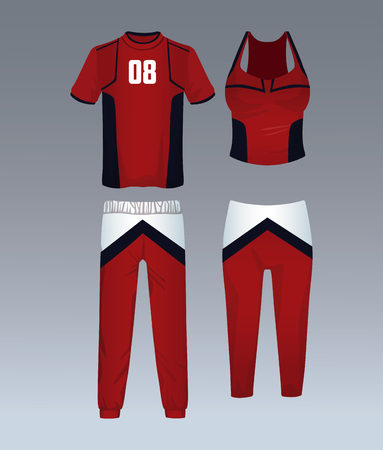 Sport wear for mens and womens vector illustration graphic design