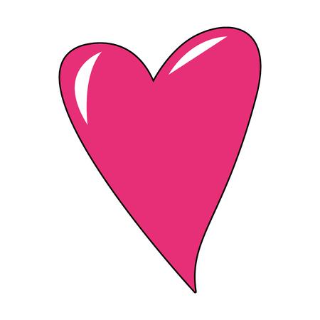 Lovely heart cartoon vector illustration graphic design 向量圖像