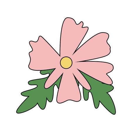 Beautiful flower cartoon vector illustration graphic design Illustration