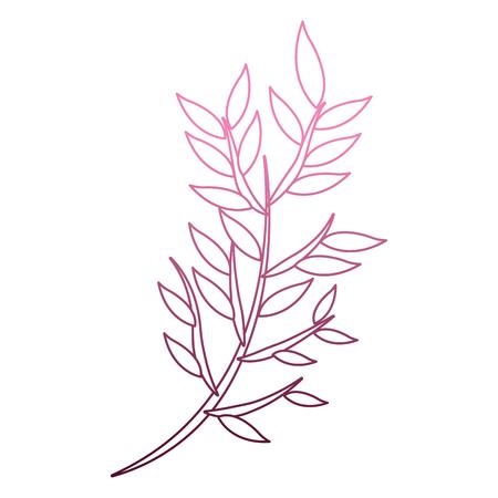 Bouquet of leaves cartoon on purple lines vector illustration Çizim
