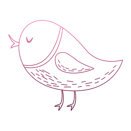 Cute bird cartoon on purple lines vector illustration Illustration