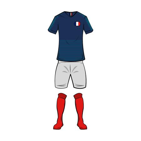 France national soccer sport wear vector illustration graphic design
