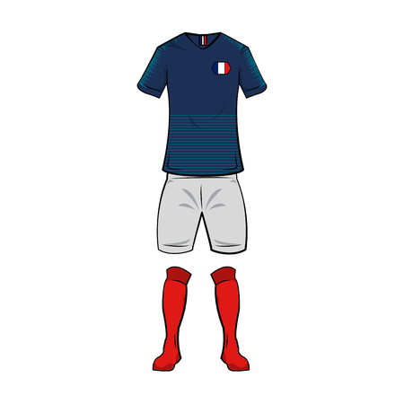 France national soccer sport wear vector illustration graphic design