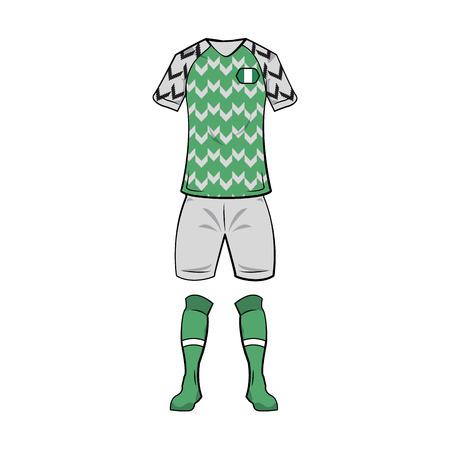 Nigeria national soccer sport wear vector illustration graphic design Illustration