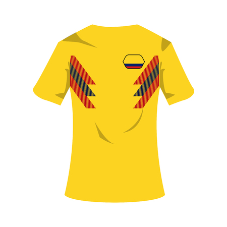 Colombia national t-shirt soccer sport wear vector illustration graphic design
