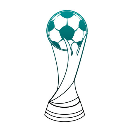 Football Soccer world trophy vector illustration graphic design