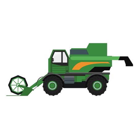 Farm tractor vehicle vector illustration graphic design