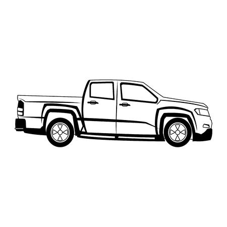 Pick up truck vector illustration graphic design
