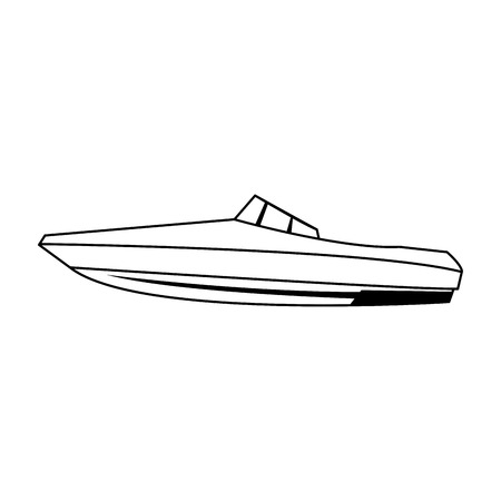 Sport boat isolated vector illustration graphic design