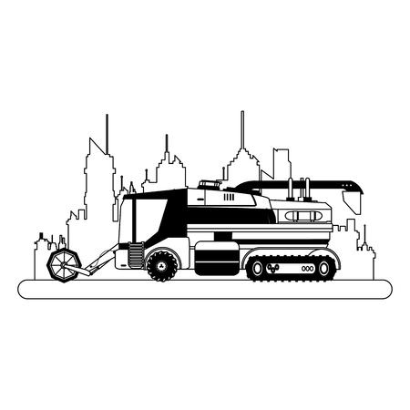 Farm truck vehicle vector illustration graphic design