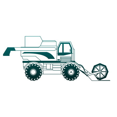 Farm tractor vehicle vector illustration graphic design