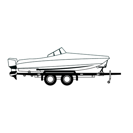 Boat on trailer isolated vector illustration graphic design Stockfoto - 99257112