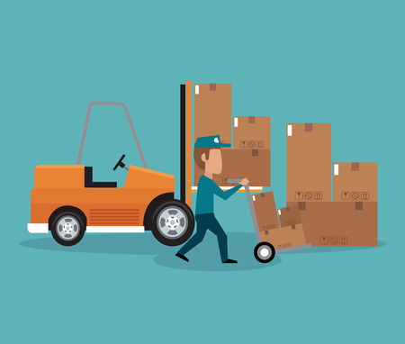 Delivery and logistics concept vector illustration graphic design