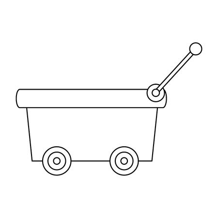 Little empty cart vector illustration graphic design.