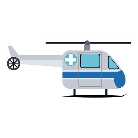 Emergency medical helicopter vector illustration graphic design