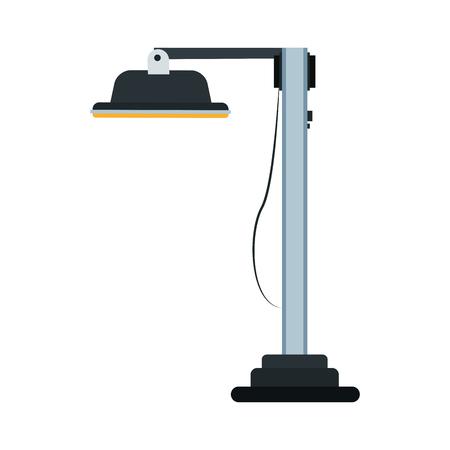 Surgeon light lamp vector illustration graphic design.