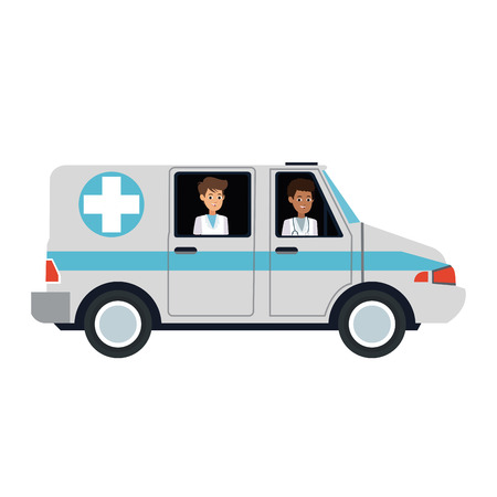 Ambulance emergency vehicle vector illustration graphic design Vettoriali