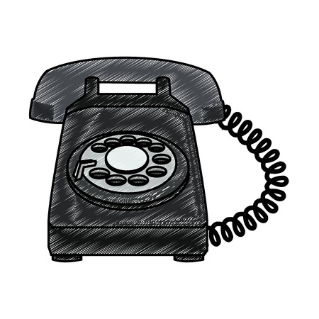 Vintage telephone isolated vector illustration graphic design