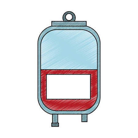 Blood bag isolated vector illustration graphic design Stock Vector - 99507935