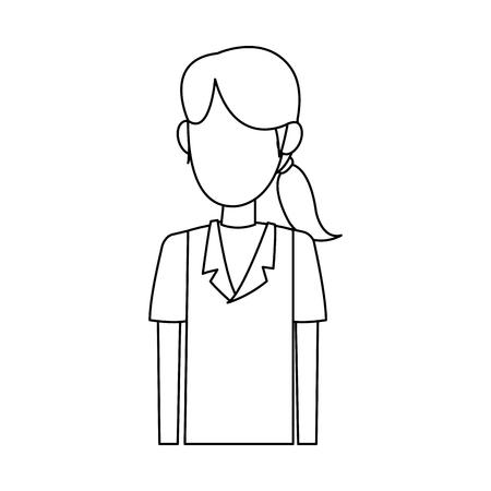 Young nurse cartoon vector illustration graphic design. Illustration