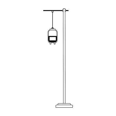 Blood bag on pole vector illustration graphic design Vettoriali