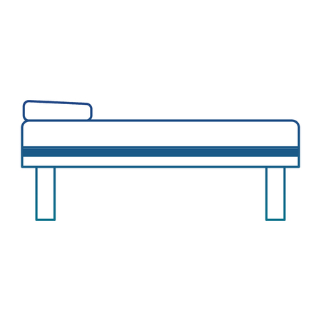 A surgery bed vector illustration graphic design