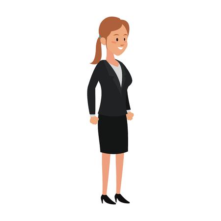 Executive business woman cartoon vector illustration graphic design.