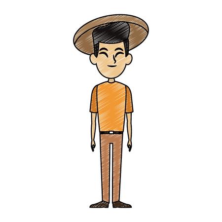 Asian cartoon man