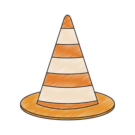 Construction traffic cone vector illustration graphic design