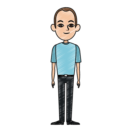 Young man with casual clothes vector illustration graphic design