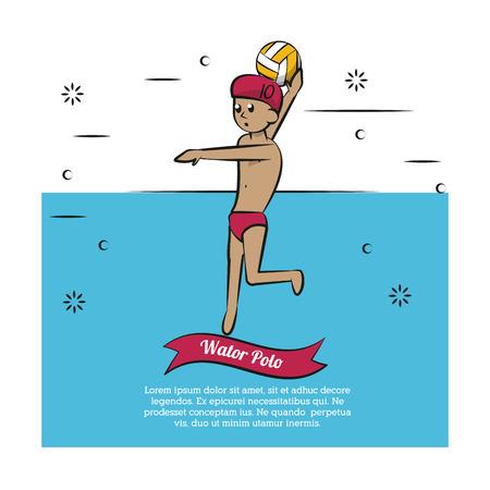 Water sport cartoons waterpolo vector illustration graphic design Illustration