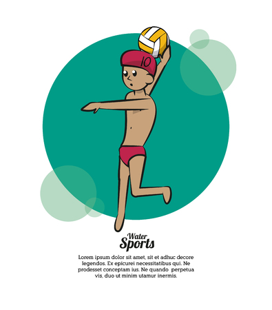 Water sport cartoons water polo vector illustration graphic design.